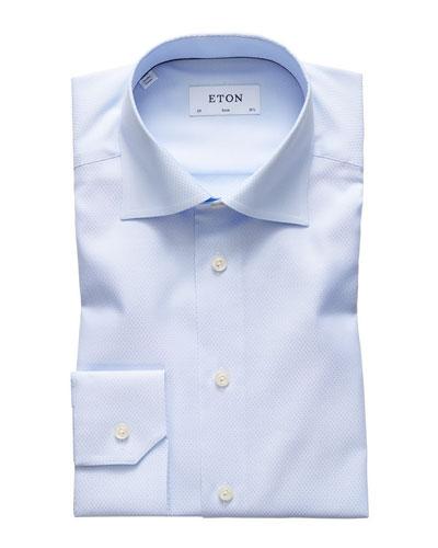 Men's Slim-Fit Micro Diamond Dress Shirt