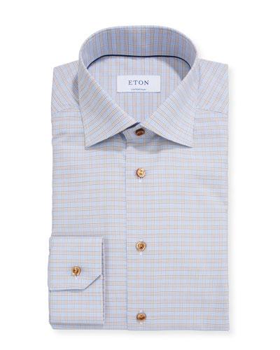 Men's Micro-Plaid Contemporary Dress Shirt