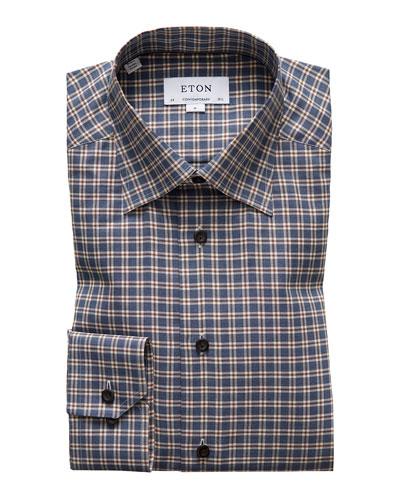 Men's Flanella Plaid Dress Shirt