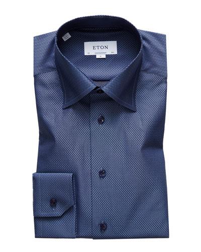 Men's Fancy Textured Dress Shirt