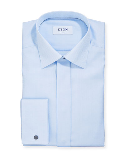 Men's Medallion-Print Slim-Fit Dress Shirt