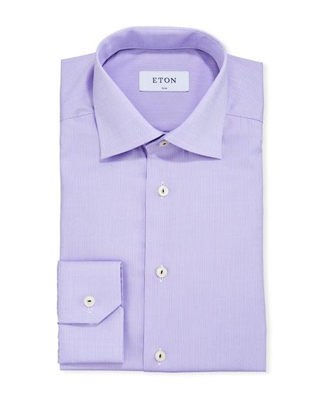 Eton Men's Contemporary-Fit Solid Cotton Dress Shirt