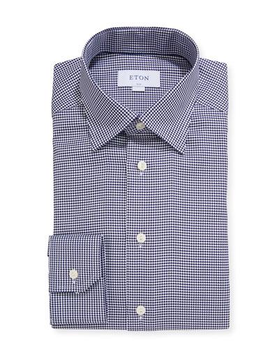 Men's Slim-Fit Bold Houndstooth Dress Shirt