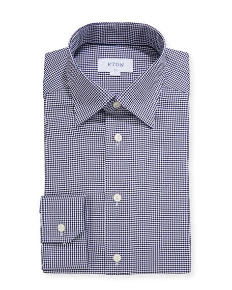 Eton Men's Slim-Fit Bold Houndstooth Dress Shirt