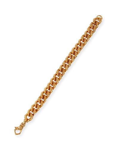 Men's Spiky Curb Chain Bracelet, Golden