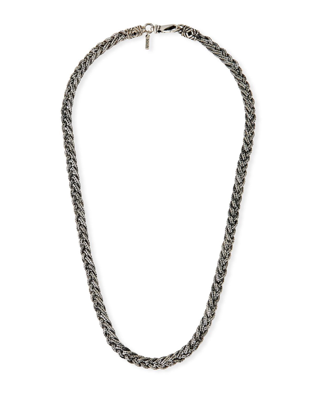 Men's Woven Foxtail Chain Necklace