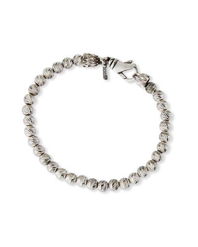 Men's Sterling Silver Beaded Bracelet