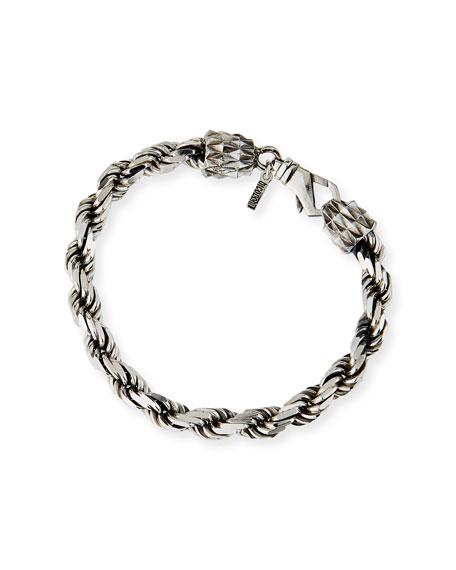 Emanuele Bicocchi Men's French Rope Chain Bracelet, Silver