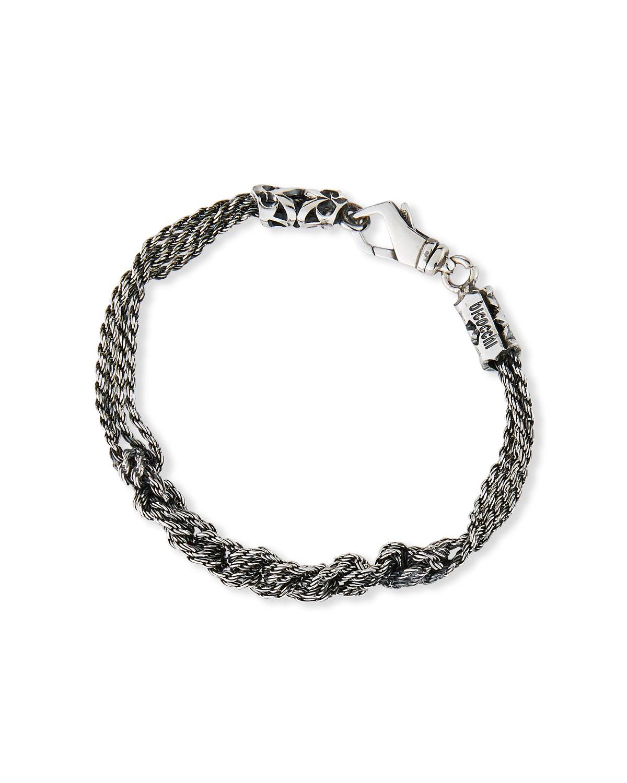 Men's Crocheted Rope Chain Bracelet