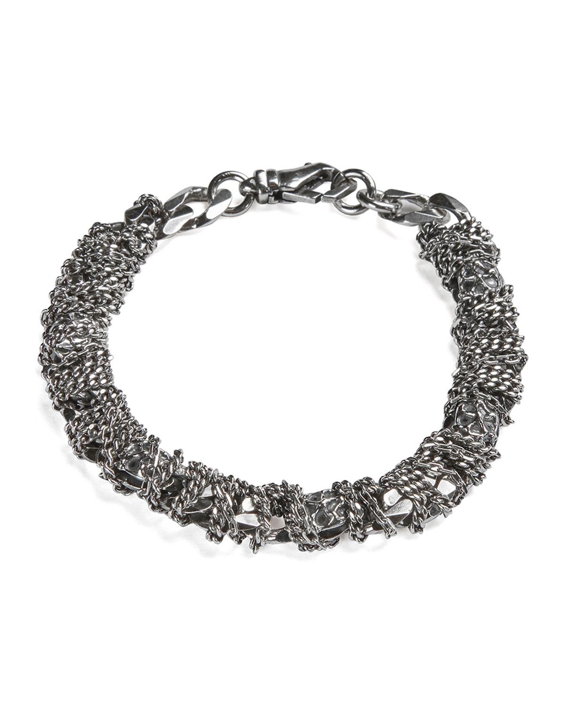 Men's Skull Wrapped Chain Bracelet