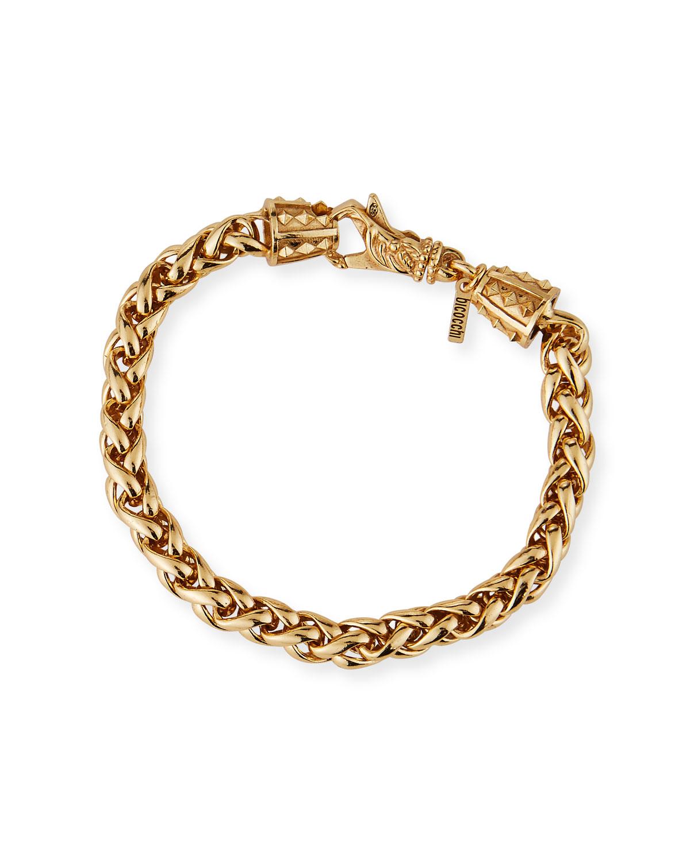Men's Medium-Link Wheat Chain Bracelet