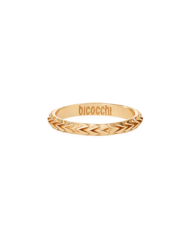 Men's Golden Scales Ring