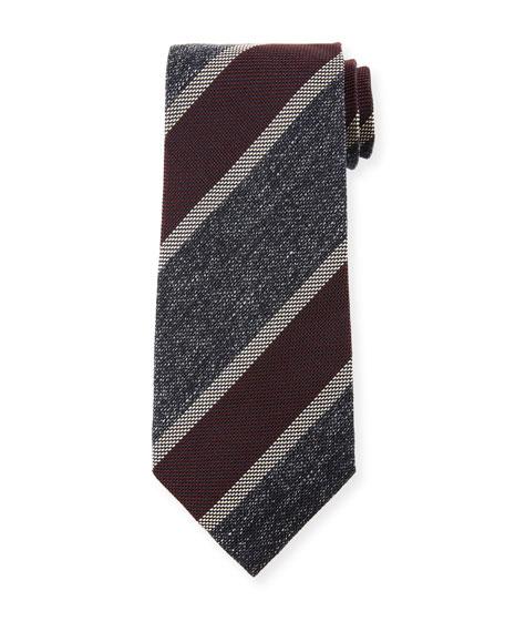TOM FORD Men's 95cm Silk-Blend Diagonal Stripe Tie, Red