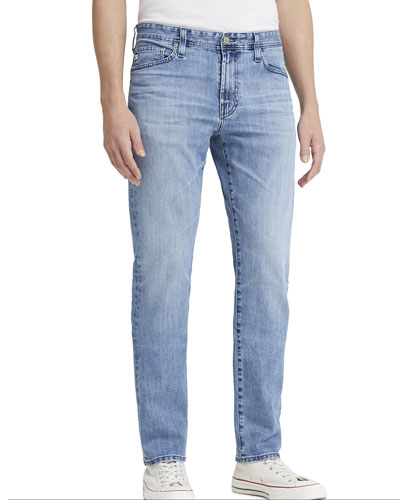 Men's Everett Slim Light-Wash Jeans