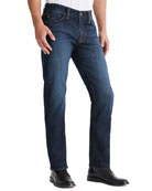 AG Adriano Goldschmied Men's Protege Straight-Leg Dark-Wash Jeans