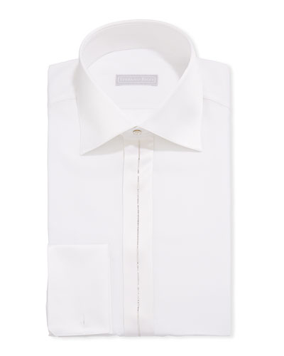 Men's Crystal-Striped Silk Formal Shirt