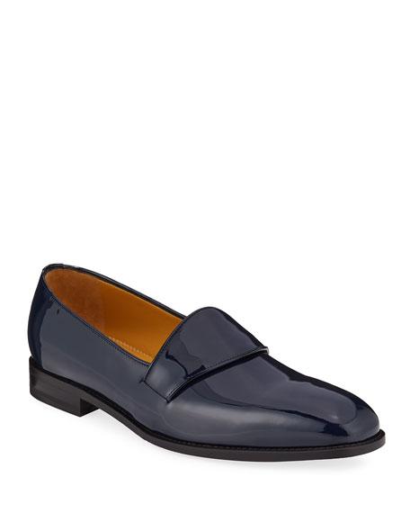 Manolo Blahnik Men's Brumelius Patent Leather Loafers