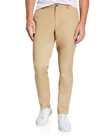 Burberry Men's Stripe-Selvedge Core Chino Pants
