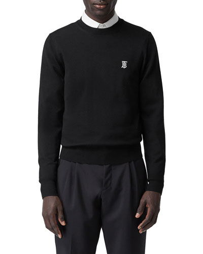 Men's Declan Core Merino Sweater with TB Monogram
