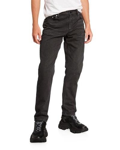 Men's Faded-Wash Denim Jeans