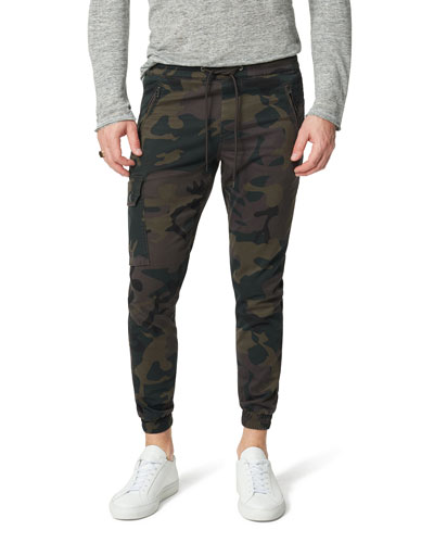 Men's Camo Drop-Yoke Twill Cargo Pants