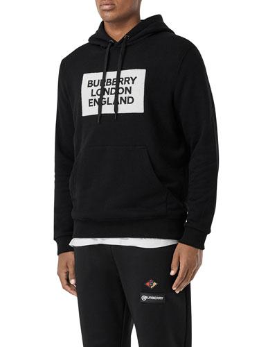 Men's Logo Typographic Pullover Hoodie