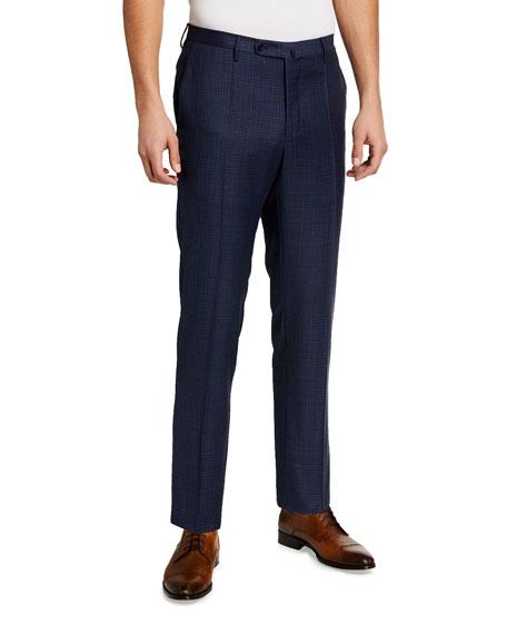 Incotex Men's Matty Super 130s Fancy Pattern Trousers