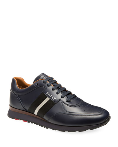 Men's Aston Trainspotting Leather Running Sneakers