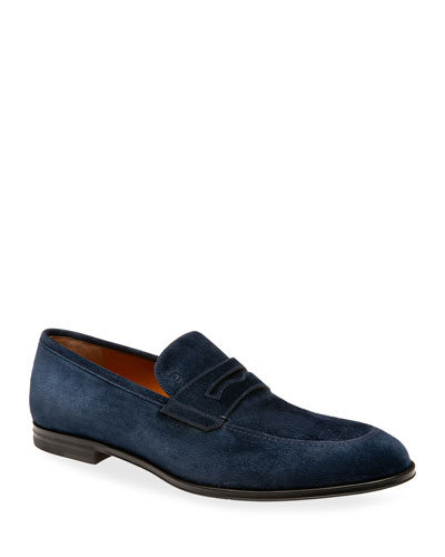 Men's Webb Suede Penny Loafers