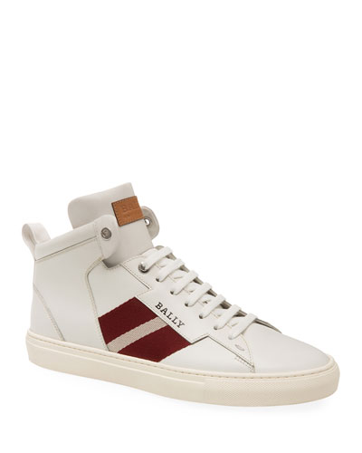 Men's Hedern Trainspotting High-Top Leather Sneakers
