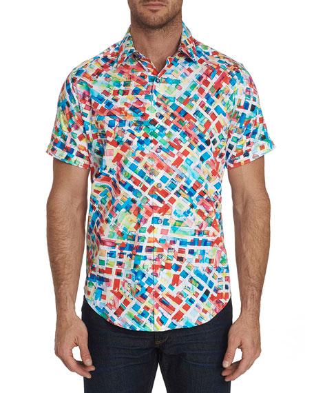 Robert Graham Men's Buster Short-Sleeve Graphic Sport Shirt