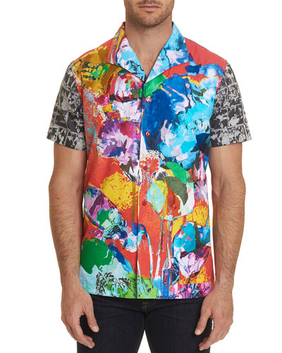 Men's The Flashback Short-Sleeve Graphic Sport Shirt