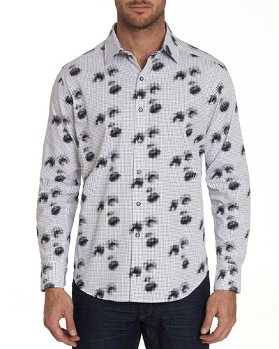 Men's Silent Scream Graphic Sport Shirt