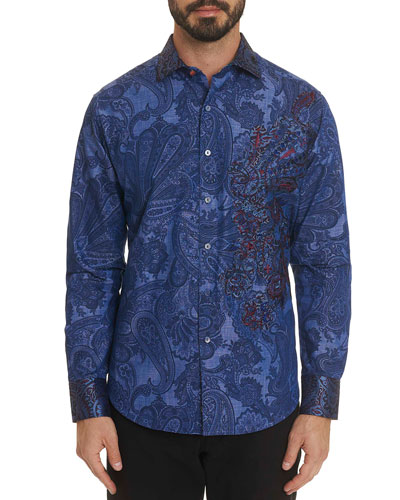 Men's Rockin' Bones Paisley Graphic Sport Shirt