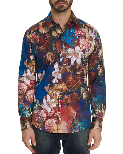 Men's Casablanca Graphic Floral Sport Shirt