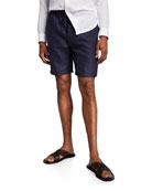 Derek Rose Men's Sydney 1 Linen Shorts