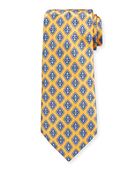 Ermenegildo Zegna Men's Fancy Diamonds Silk Tie