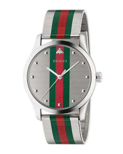 Men's Signature Web Stainless Steel Bracelet Watch