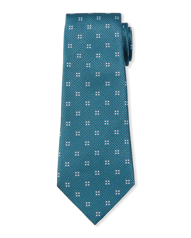 Men's Four Micro-Square Silk Tie