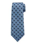 Ermenegildo Zegna Men's Circles & Boxes Silk Tie