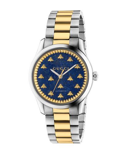 Men's Signature Bee Automatic Two-Tone Bracelet Watch
