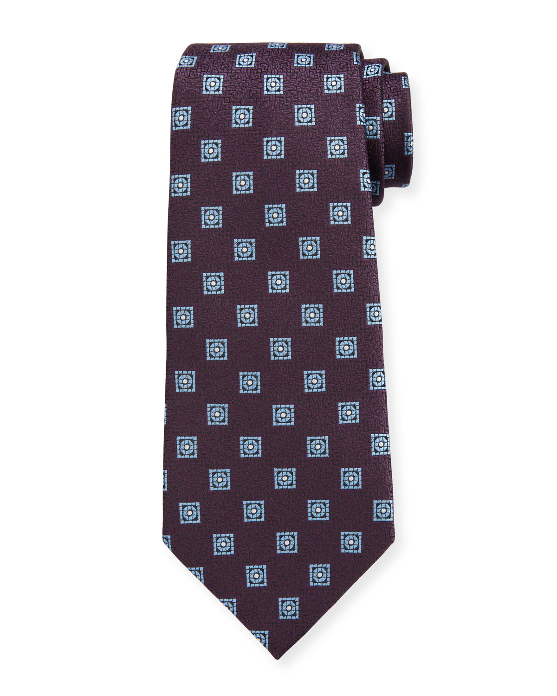 Men's Circles & Boxes Silk Tie