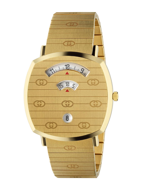 Grip Square 3-Window Interlocking G Bracelet Watch