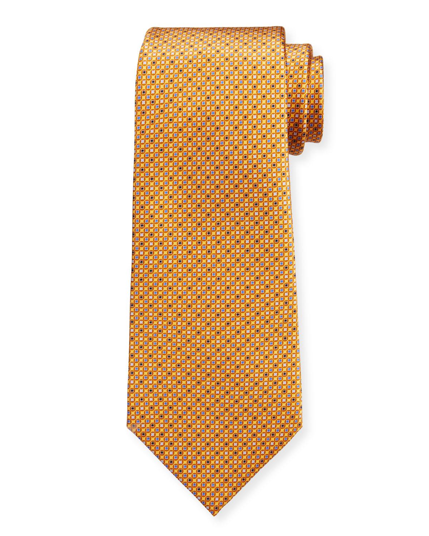 Men's Micro-Squares Silk Tie