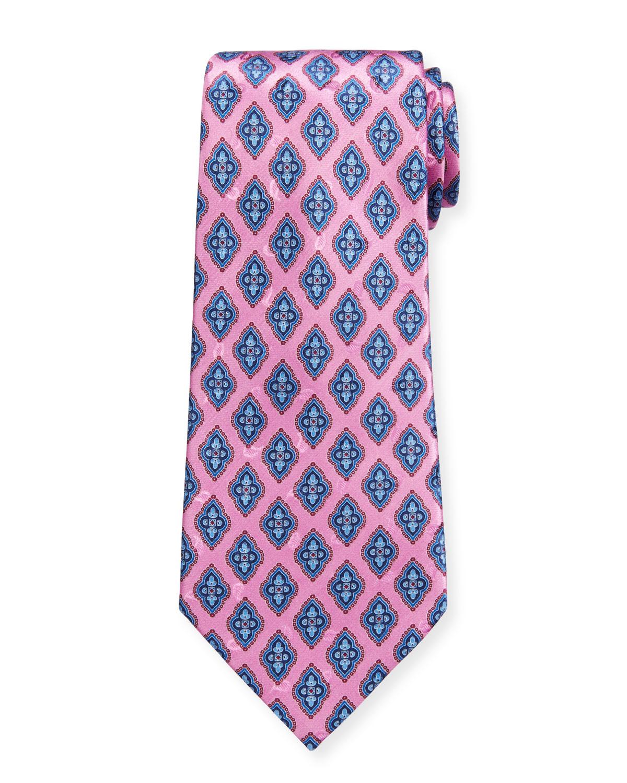 Men's Fancy Diamonds Silk Tie
