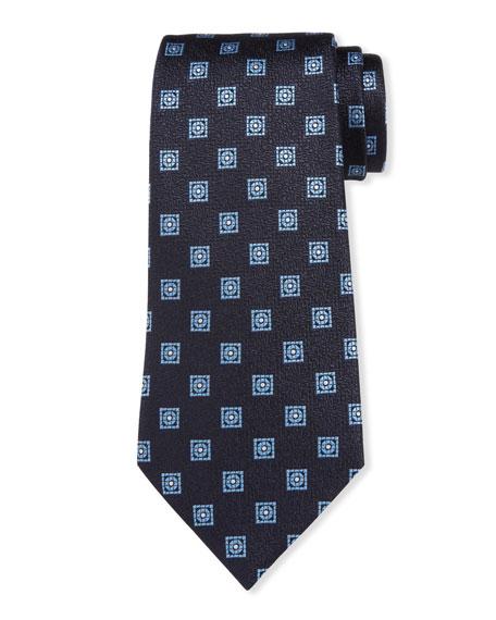 Ermenegildo Zegna Men's Circle & Boxes Silk Tie