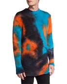 Mauna Kea Men's Tie-Dye Mohair-Blend Crewneck Sweater