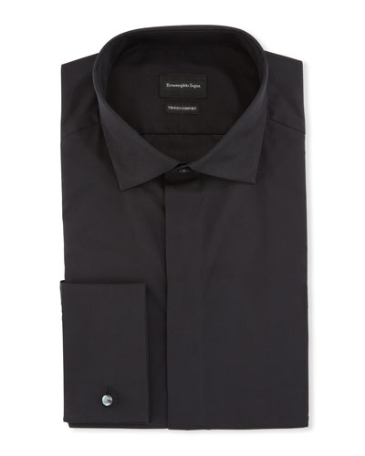 Men's Solid Trofeo French-Cuff Trim-Fit Dress Shirt