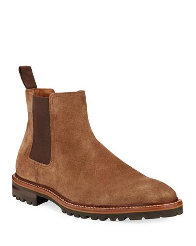 Men's Leighton Weatherproof Suede Chelsea Boots