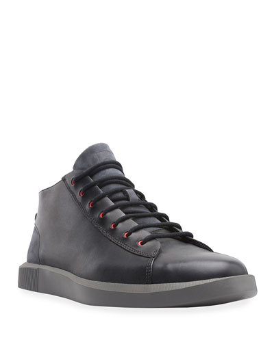 Men's Bill Leather/Suede Sneakers with Contrast Eyelets